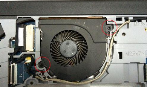 Dell Inspiron 15-5000 notebook, remove the keyboard, remove the fan